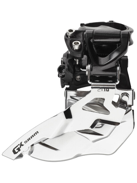 SRAM GX Umwerfer 2x10-fach HighClamp Top Pull schwarz/silber